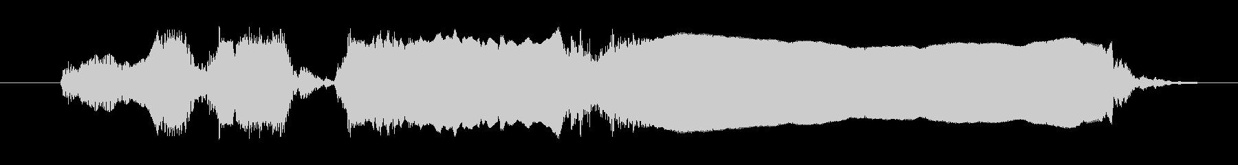 雄鶏 コールクローズ02の未再生の波形