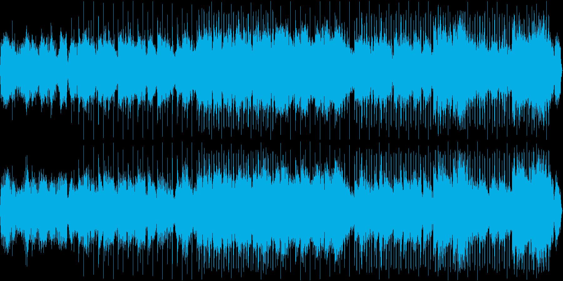 シンセサイザーの幻想的BGMの再生済みの波形