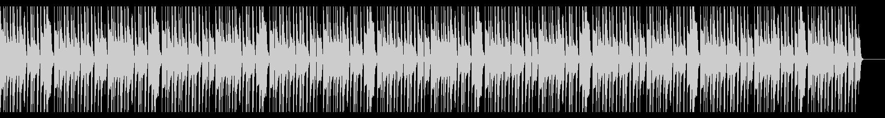 ほのぼのとしたマリンバBGMの未再生の波形