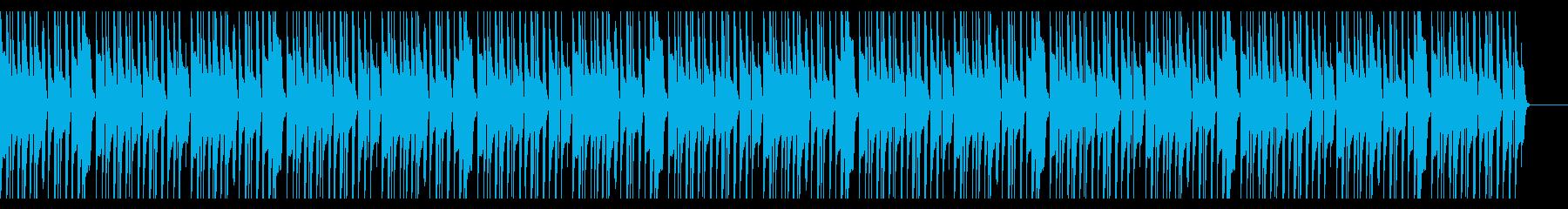ほのぼのとしたマリンバBGMの再生済みの波形