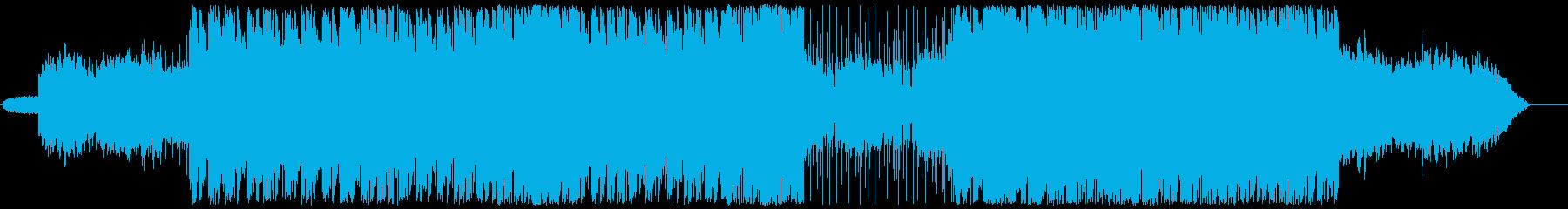 シンセリフ主体のダークなテクノの再生済みの波形