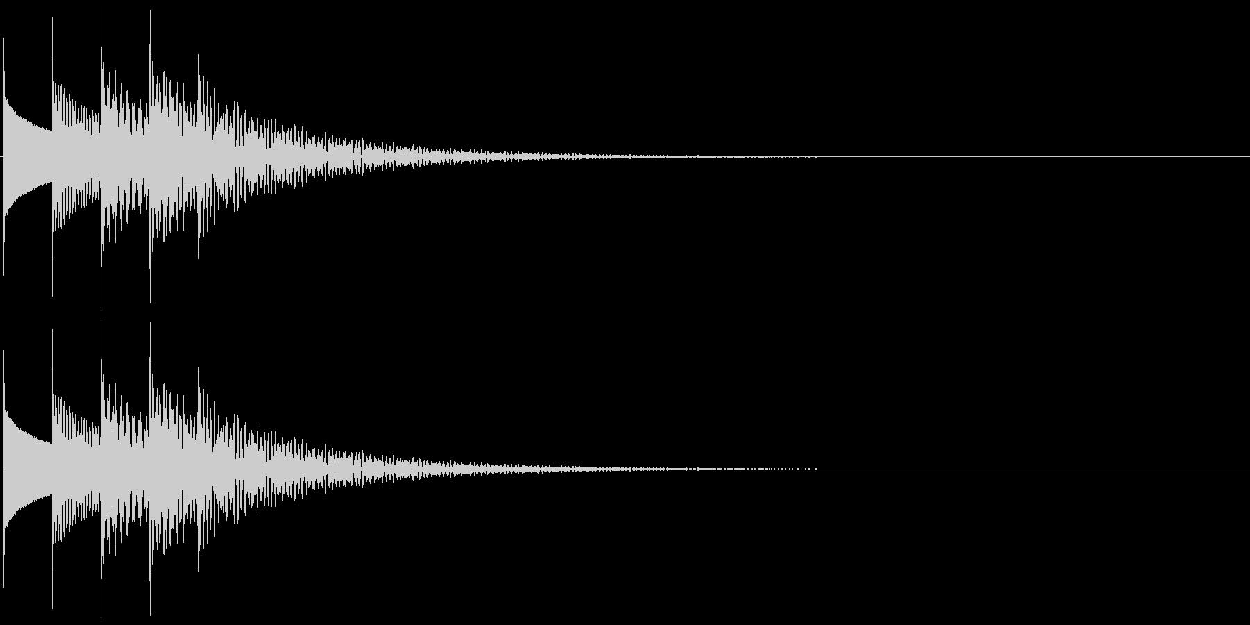 場面転換・場面終わり・オルゴールの未再生の波形