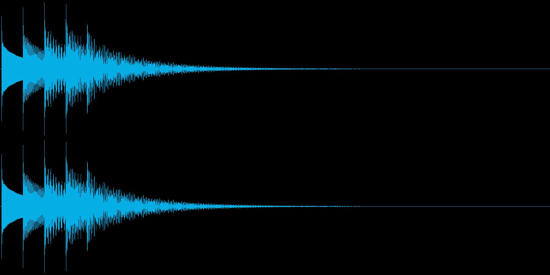 場面転換・場面終わり・オルゴールの再生済みの波形