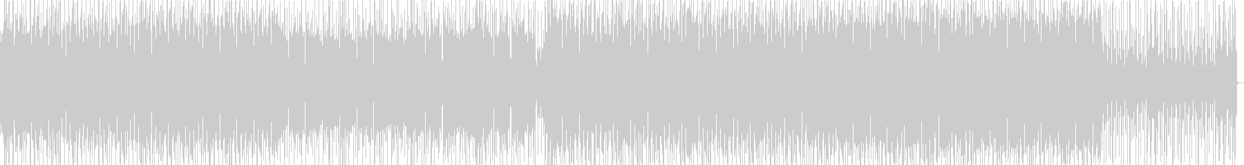 Simple, fashionable, electro BGM's unreproduced waveform