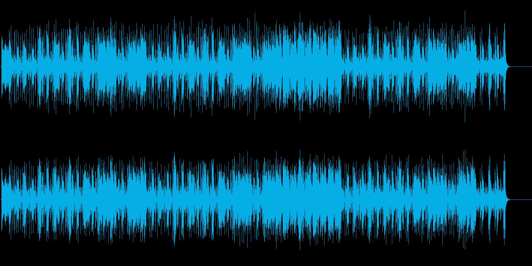 ファンキーミュージックの再生済みの波形