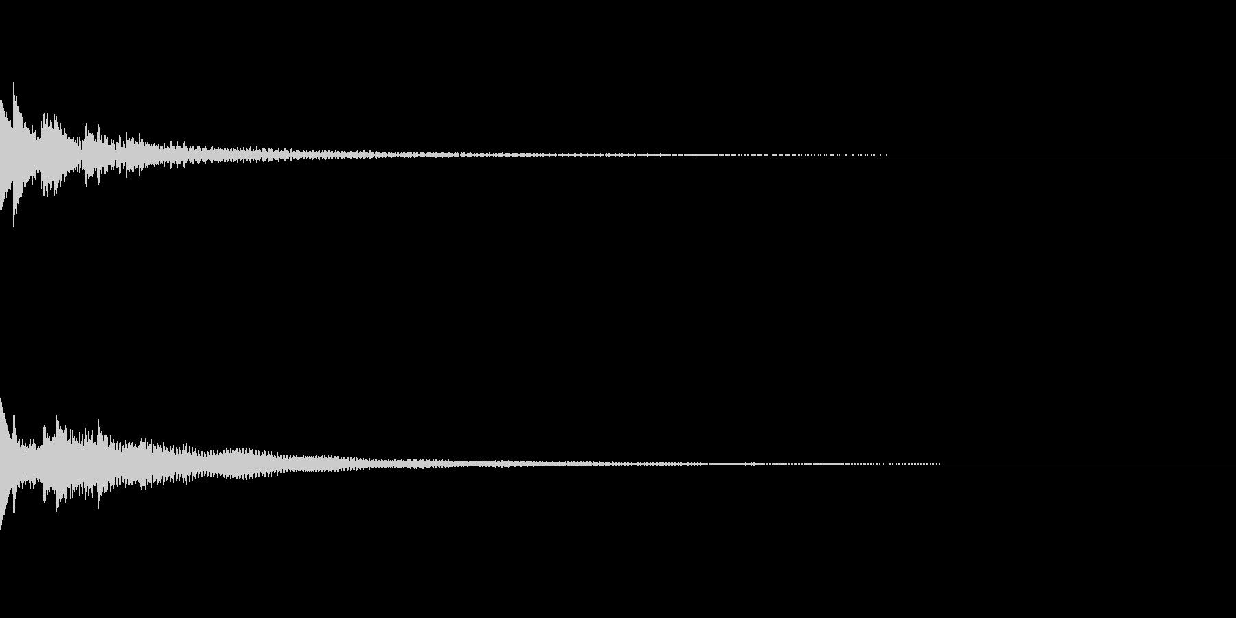 コイン選択画面 1ドル選択音の未再生の波形