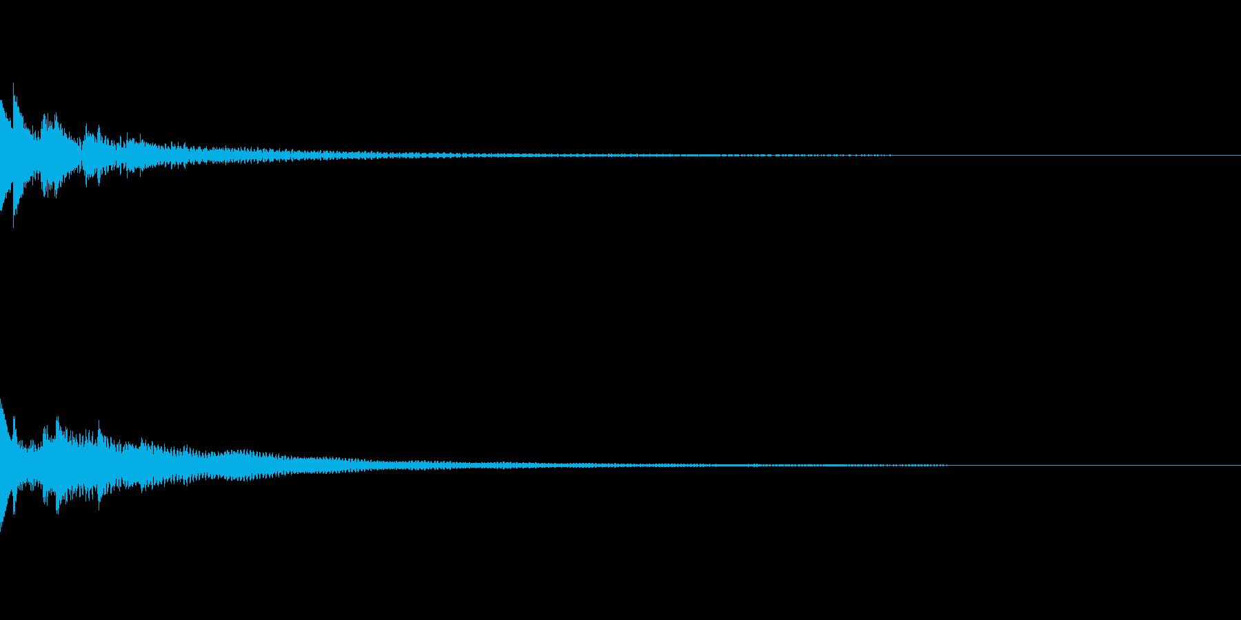 コイン選択画面 1ドル選択音の再生済みの波形