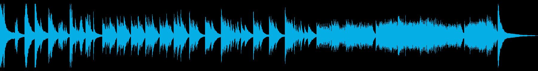 荘厳な和風ピアノソロの再生済みの波形
