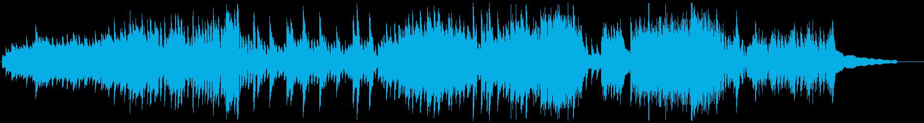東欧の夜をイメージしたBGMの再生済みの波形