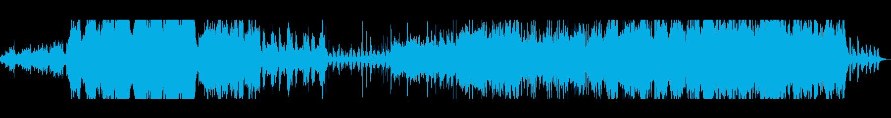 緊迫感のあるオーケストラ曲の再生済みの波形