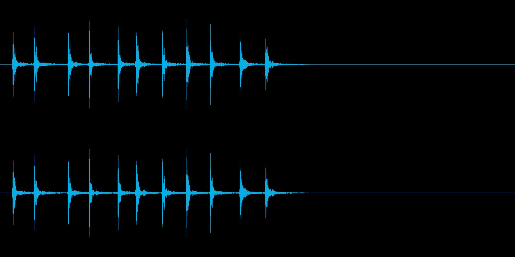 [生録音]カッターの刃を出す音02-遅めの再生済みの波形