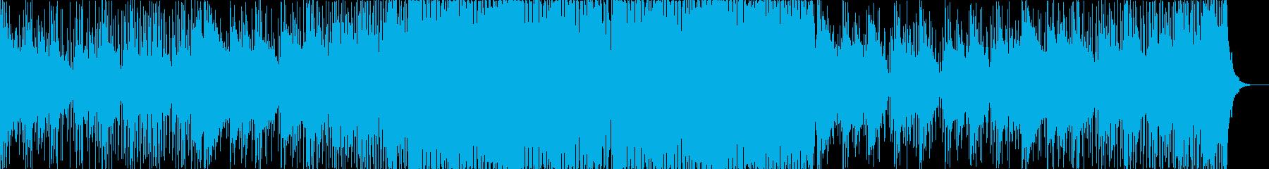 ギターが目立つジャングル/ドラムンベースの再生済みの波形