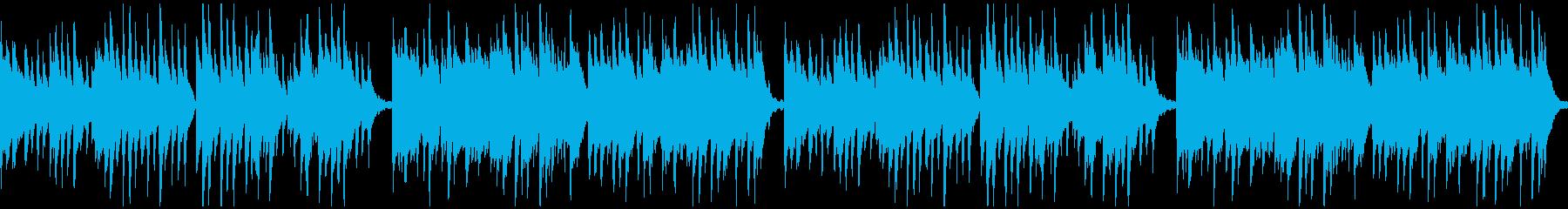 優しく、どこか儚い和風のピアノ曲:ループの再生済みの波形