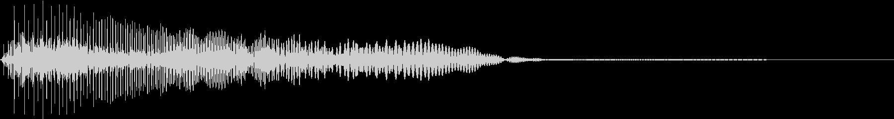 Game ヨッシーの様な可愛い動作SEの未再生の波形