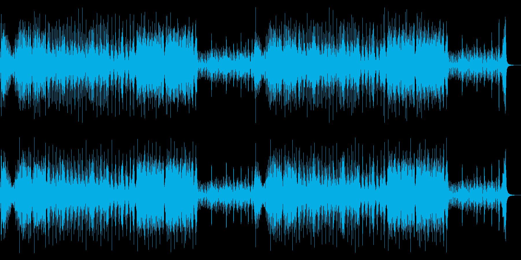 テンポのいい篠笛と和太鼓アンサンブルの再生済みの波形