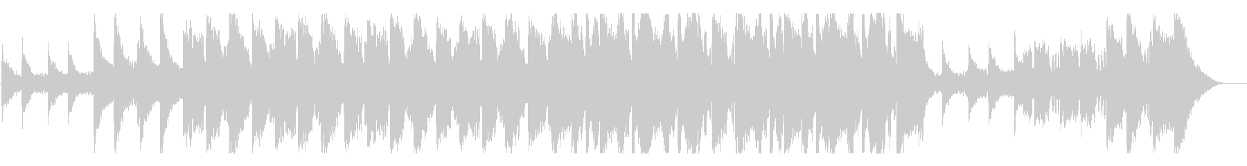 透明のある美しいメロディーのBGMの未再生の波形