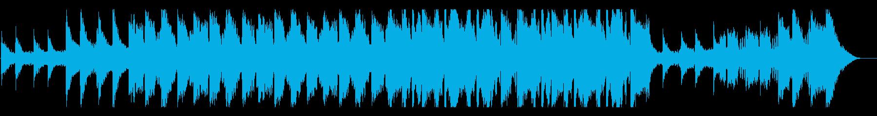 透明のある美しいメロディーのBGMの再生済みの波形