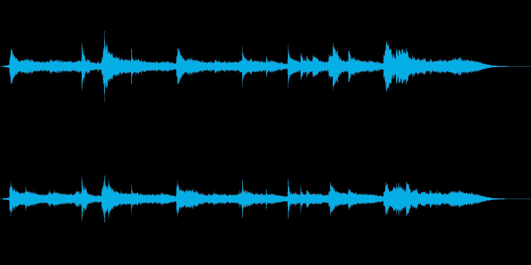 ピアノとテキスチャー系の再生済みの波形