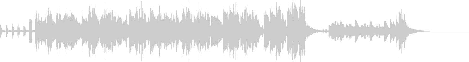 シンセメロのミドルテンポの大人ジングルの未再生の波形