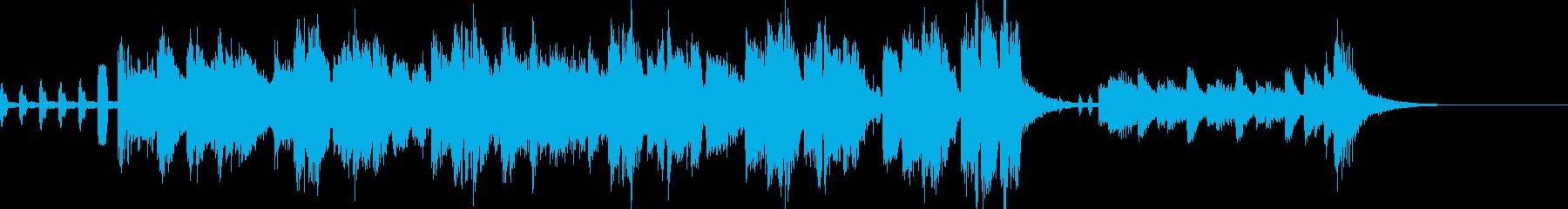 シンセメロのミドルテンポの大人ジングルの再生済みの波形