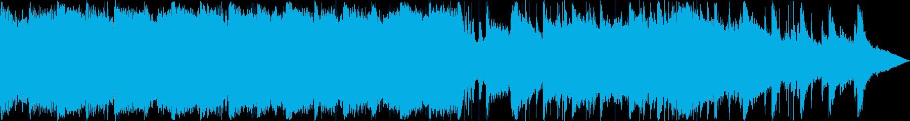 和楽器によるゆったりとした日本風BGMの再生済みの波形