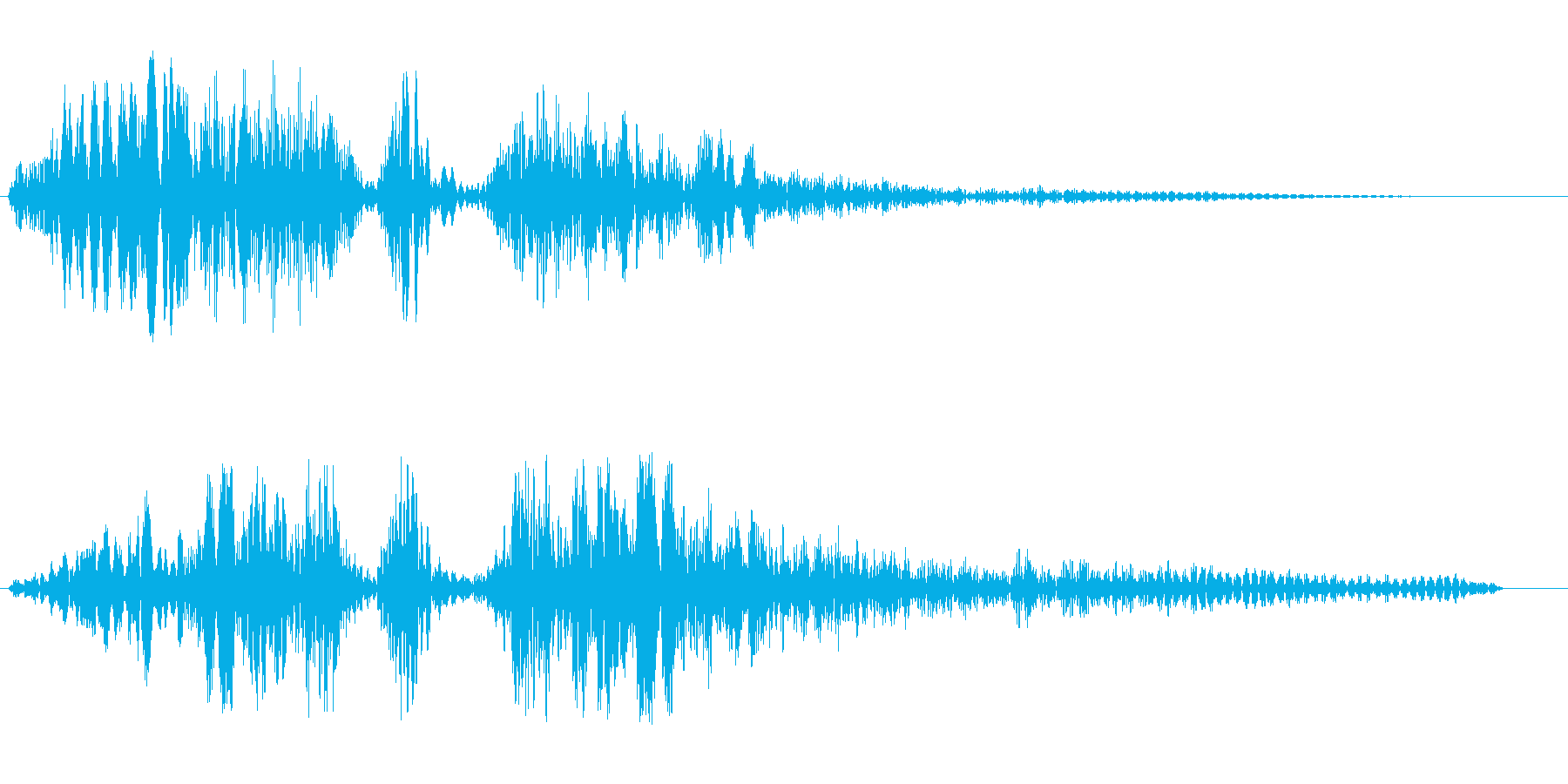 ゴーァビシューン(通過音)の再生済みの波形