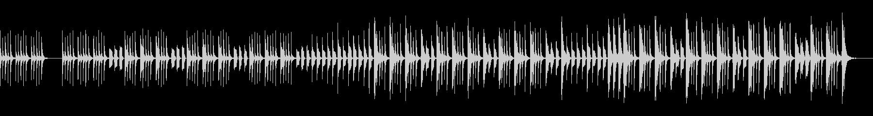 ほのぼのした6/8拍子のマーチの未再生の波形