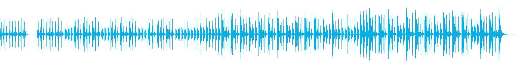 ほのぼのした6/8拍子のマーチの再生済みの波形