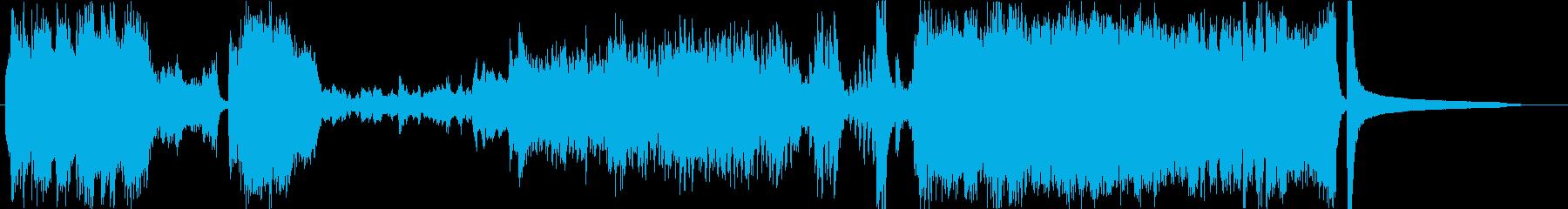 壮大な大河ドラマっぽいオーケストラ曲の再生済みの波形