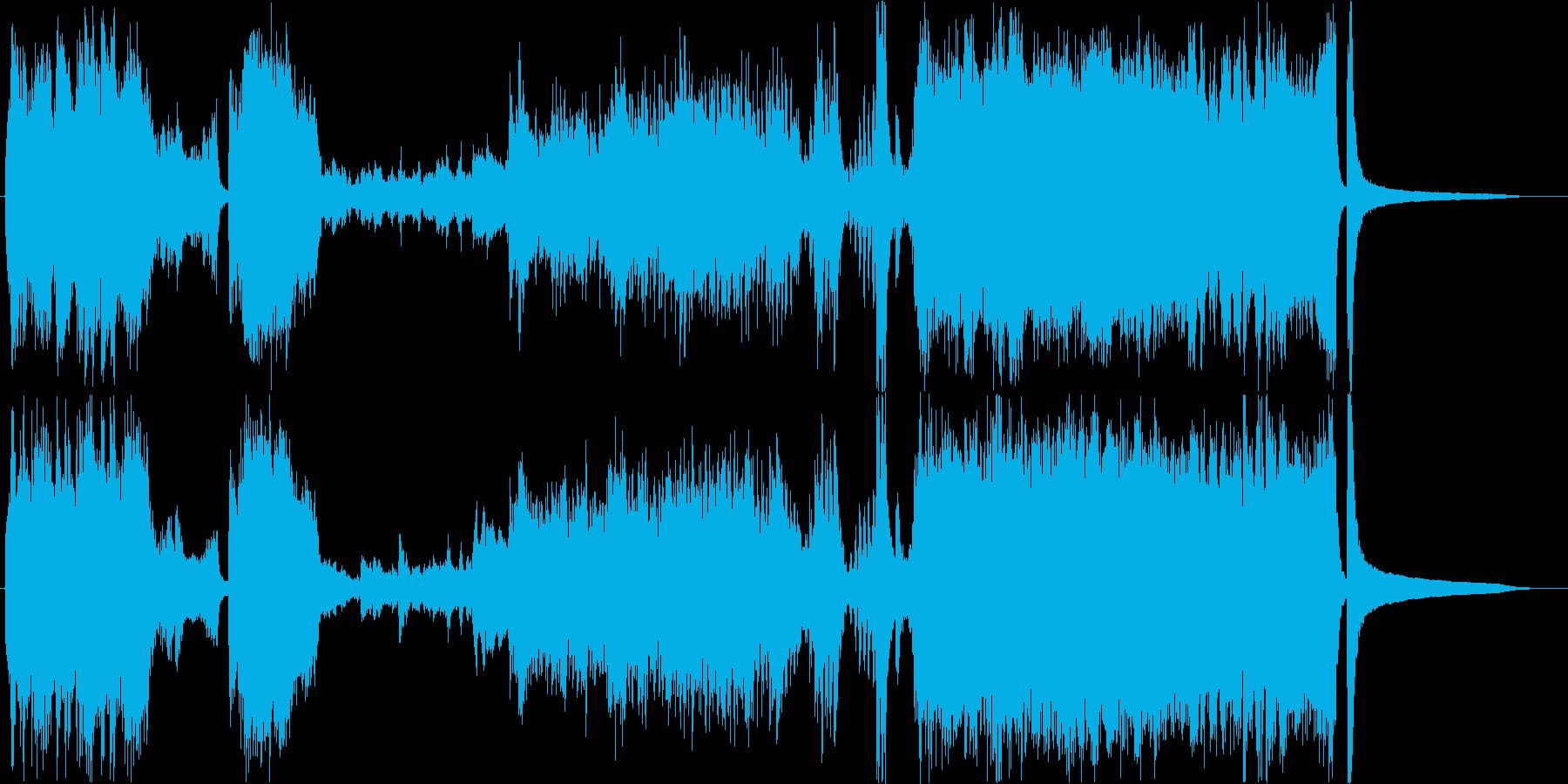 和楽器主体の大河ドラマ風和オーケストラの再生済みの波形