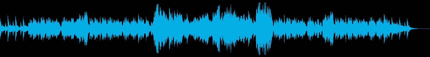 フルートとハープを使った物語の始まりの再生済みの波形