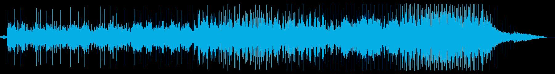 アコースティックチルアウト音楽の再生済みの波形