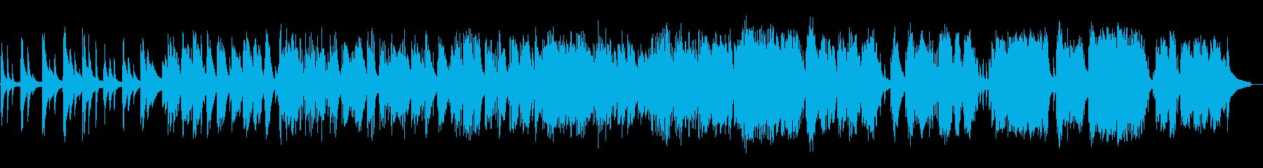 静かなピアノの再生済みの波形