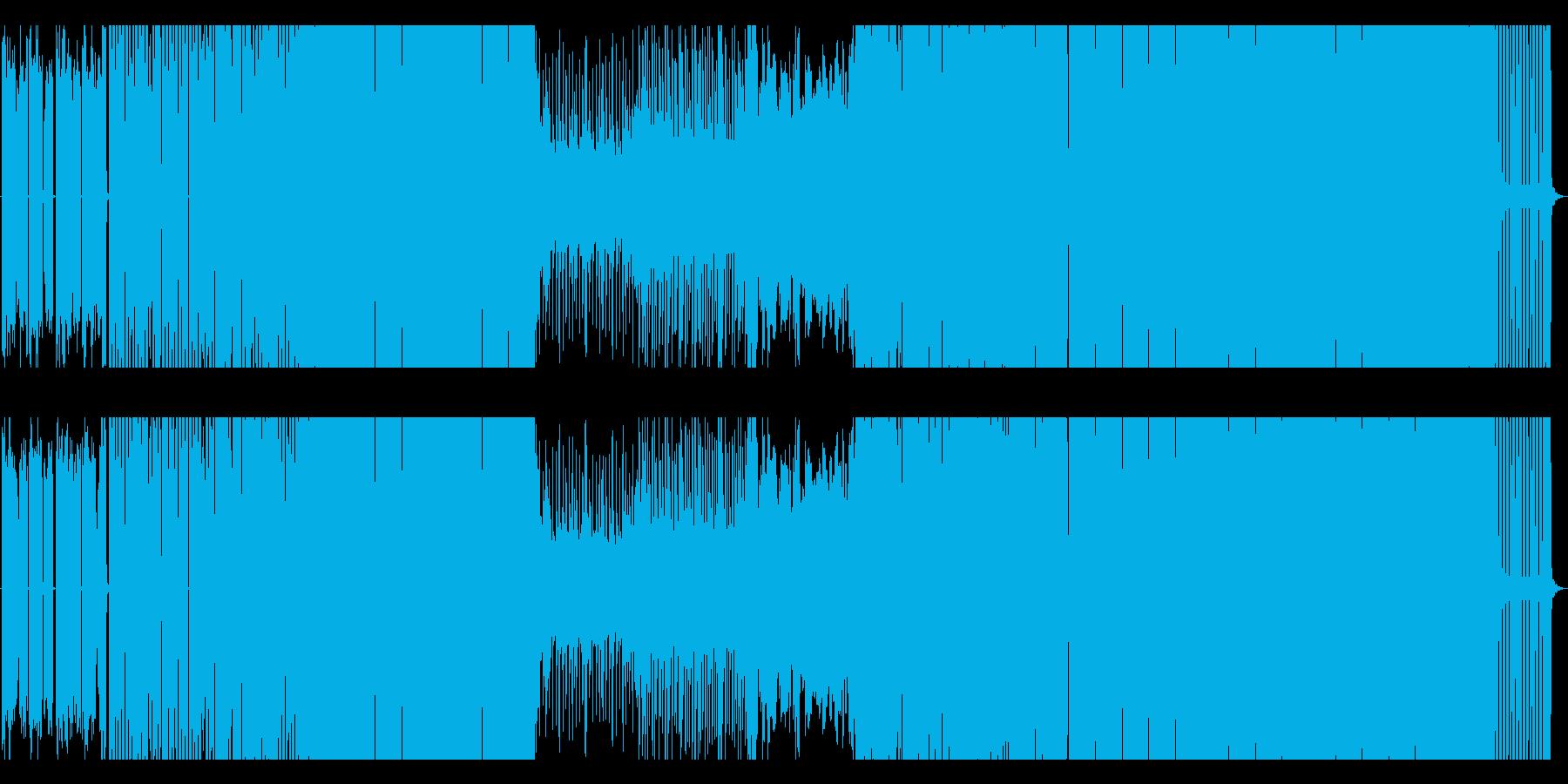 落ち着いた雰囲気を持つEDMの再生済みの波形
