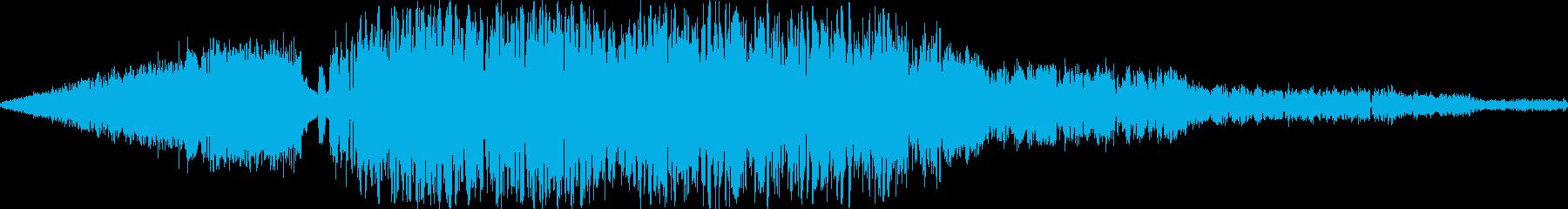 RPG:炎魔法音「シュボーッ」の再生済みの波形