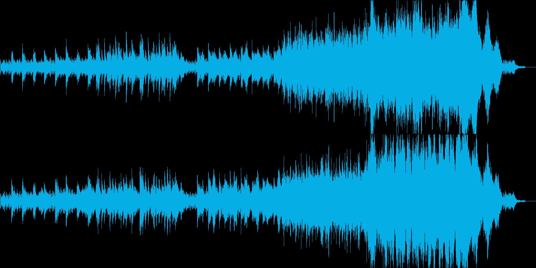 ピアノとストリングスの穏やかで感動的な曲の再生済みの波形
