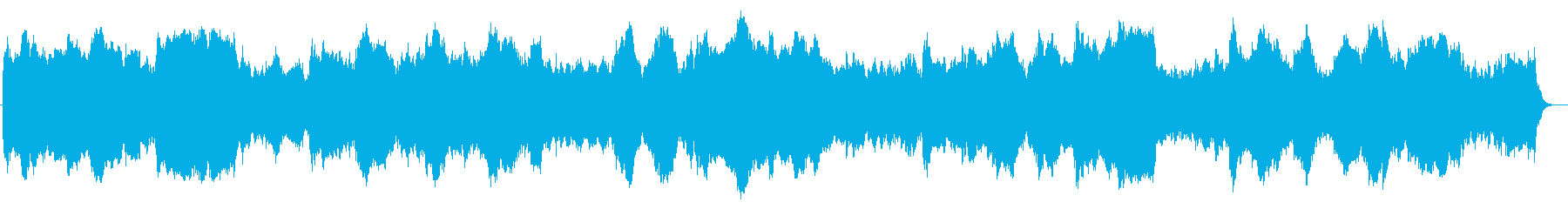 近未来系シンセサイザーサウンドの再生済みの波形