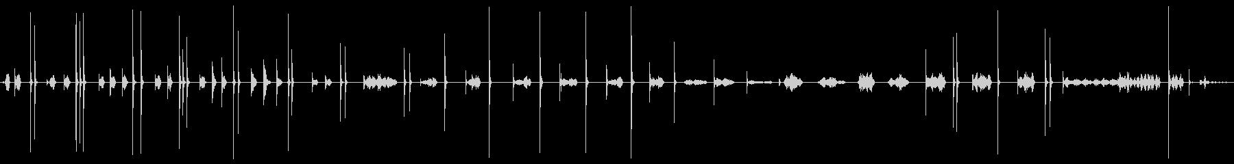 中華鍋とおたまが奏でるサウンドの未再生の波形