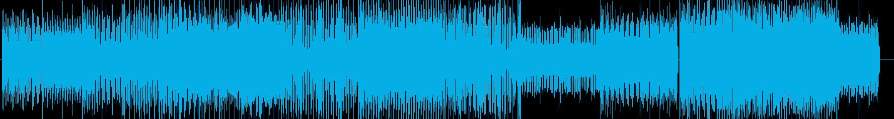 コミカルでスタイリッシュダンスインスト曲の再生済みの波形
