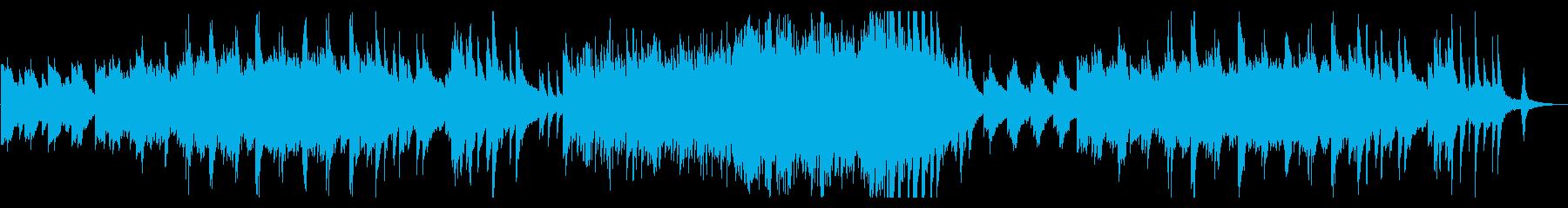 ピアノメインのニューエイジ風ゆったり曲の再生済みの波形