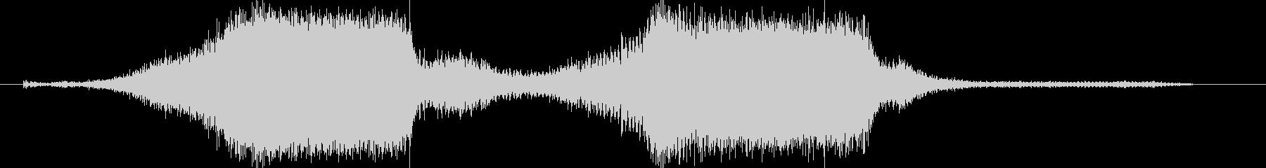 シュルシュル、キュルキュルという機械音の未再生の波形