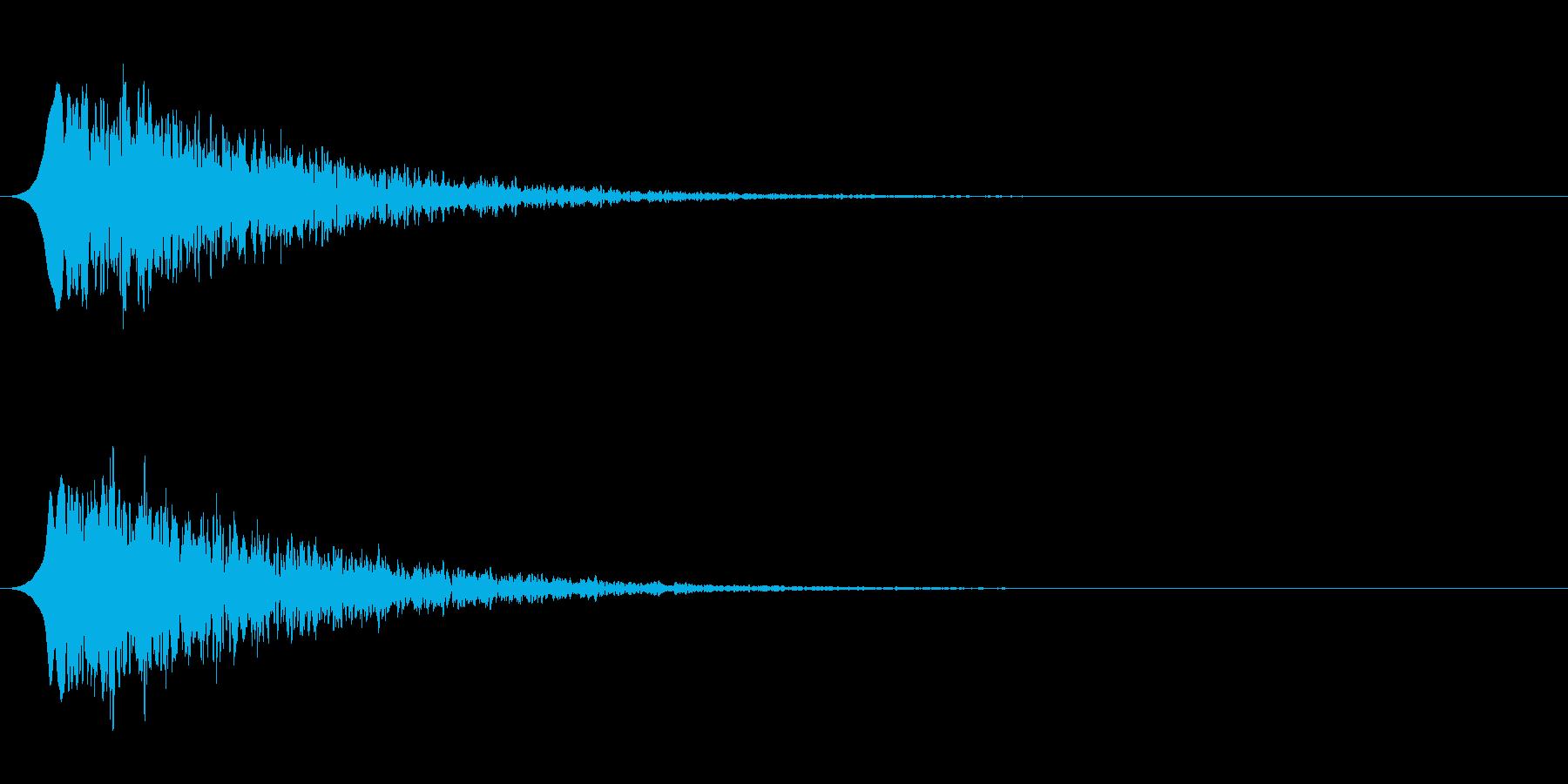 ピューン!4落ちていく音☆リバーブの再生済みの波形
