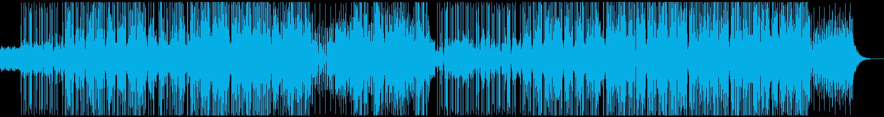 イージーリスニングなダブステップの再生済みの波形