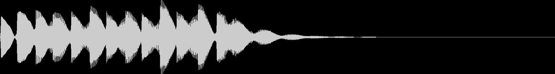 電車の発車メロディーの未再生の波形