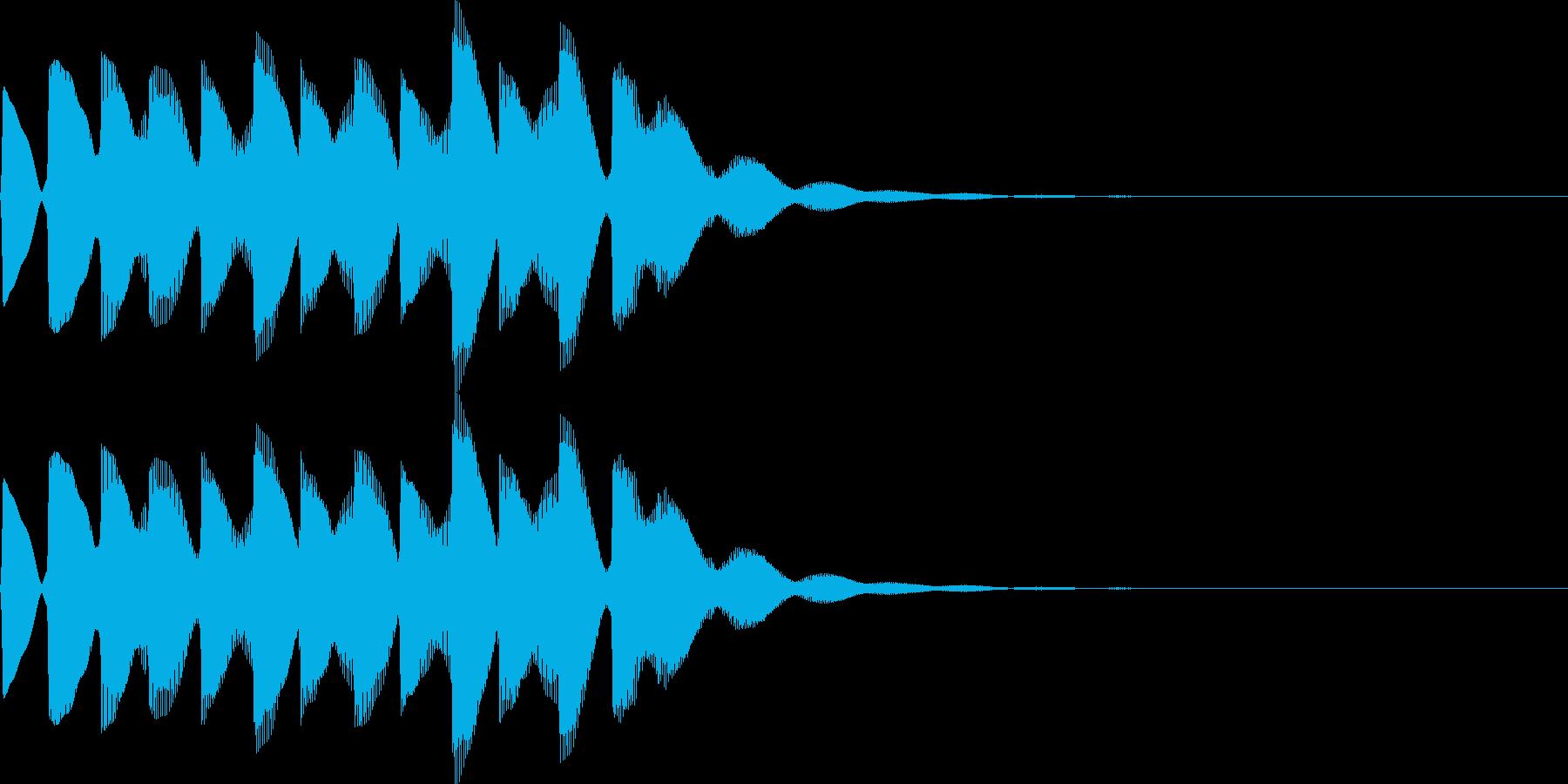 電車の発車メロディーの再生済みの波形