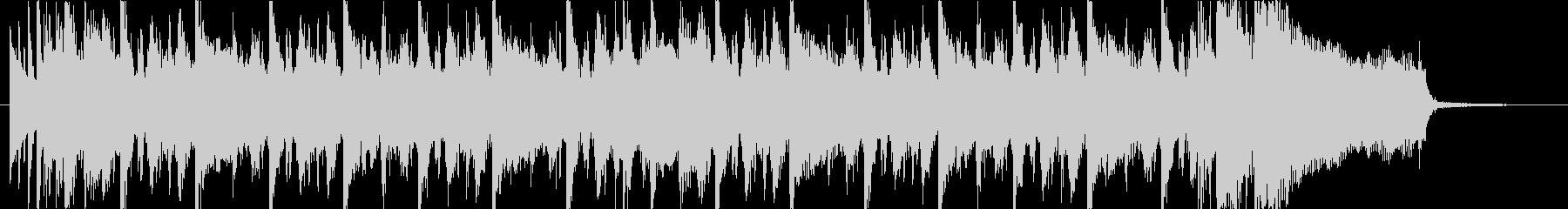 スラップとギターのファンキーなジングルの未再生の波形