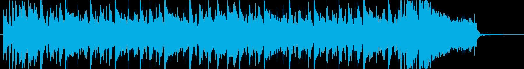 スラップとギターのファンキーなジングルの再生済みの波形