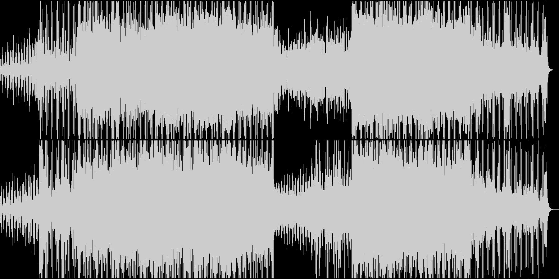 アップテンポなエレクトロポップトラックの未再生の波形