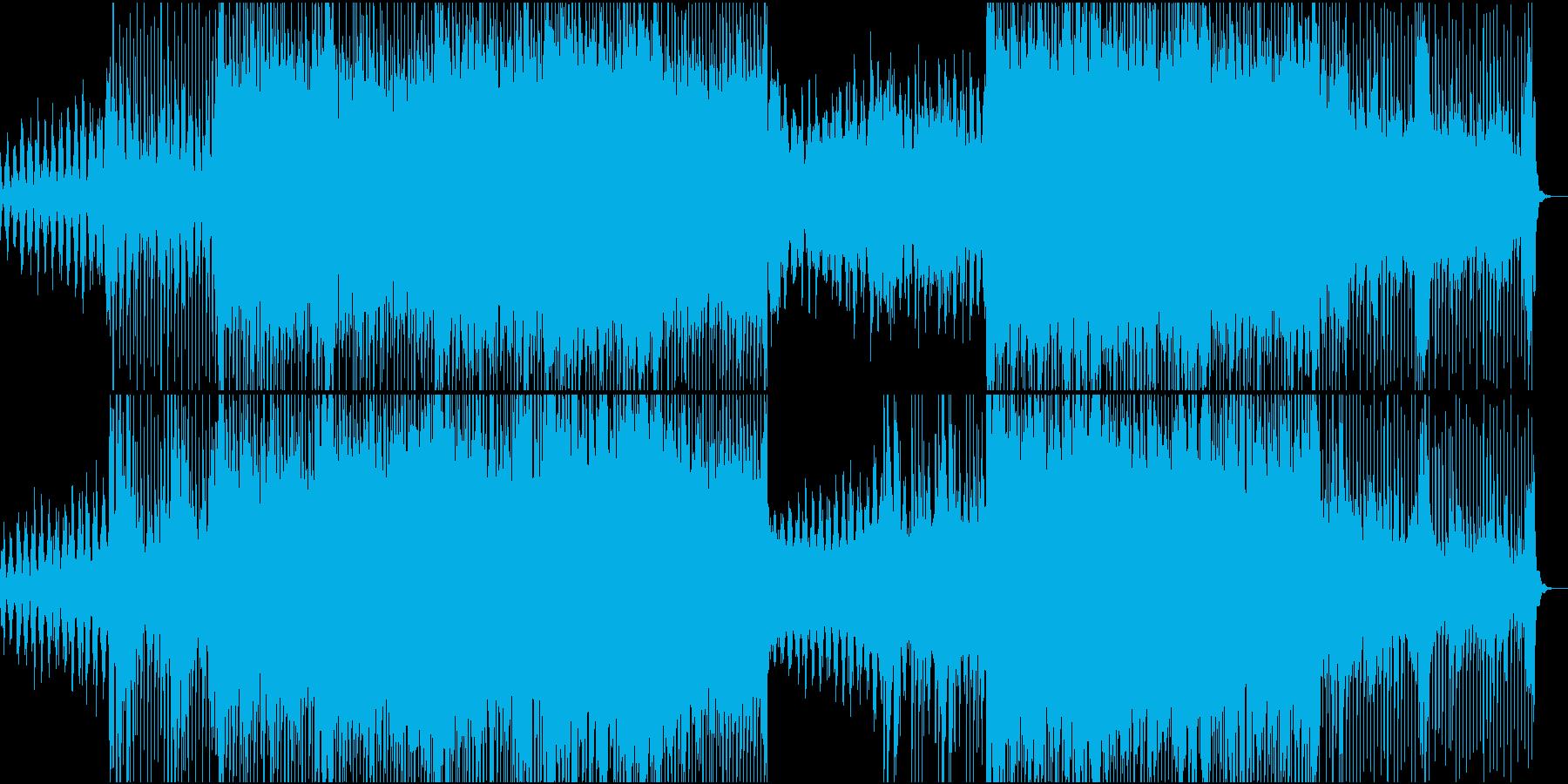 アップテンポなエレクトロポップトラックの再生済みの波形
