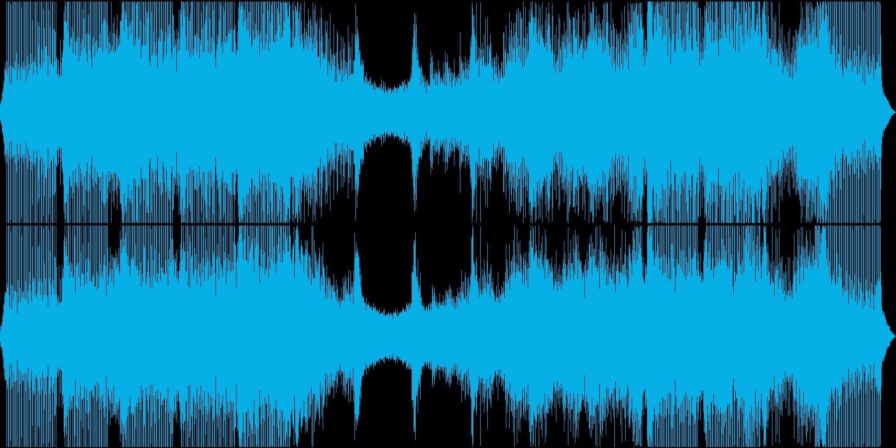 ポジティブでループ感のある曲の再生済みの波形